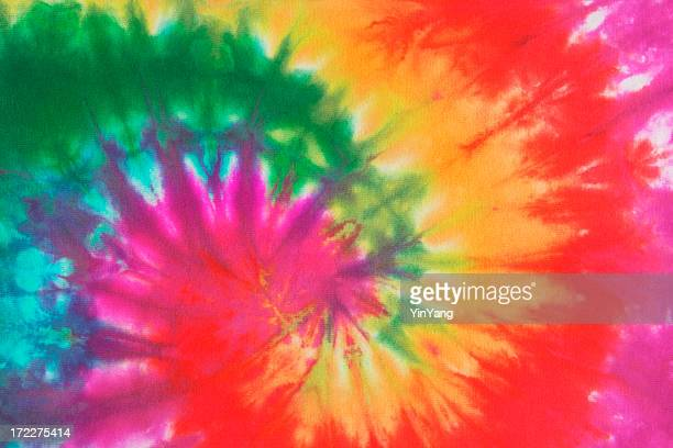 psychedelic tie dye, a 1960s style symbol of peace background - tie dye stock pictures, royalty-free photos & images