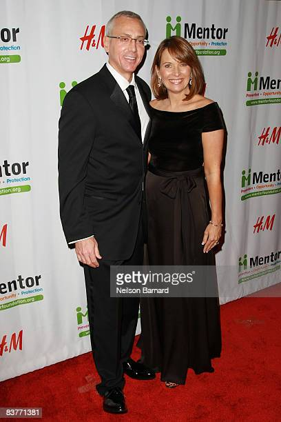 Psychiatrist Dr Drew Pinsky and wife Susan Pinsky attend the Mentor Foundation Royal Gala at the Waldorf Astoria on November 20 2008 in New York City