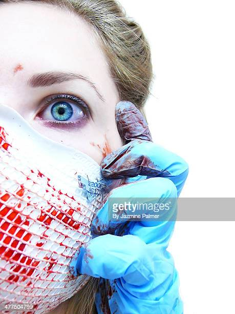 psycho - blood splatter stock photos and pictures