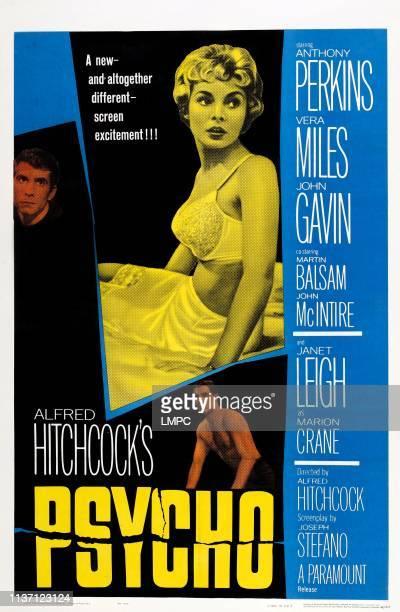 Psycho poster Anthony Perkins Janet Leigh John Gavin poster art 1960