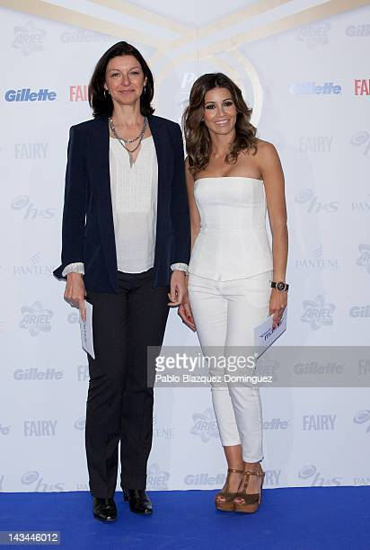 Psychologist Alejandra Vallejo Nagera and Virginia Troconis present 'Gracias Mama' campaign at Occidental Miguel Angel Hotel on April 26 2012 in...