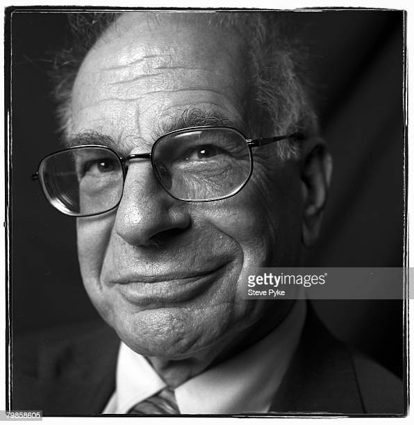 Psychologist and winner of the 2002 Nobel Prize in Economics Daniel Kahneman poses at a portrait session in New York City.
