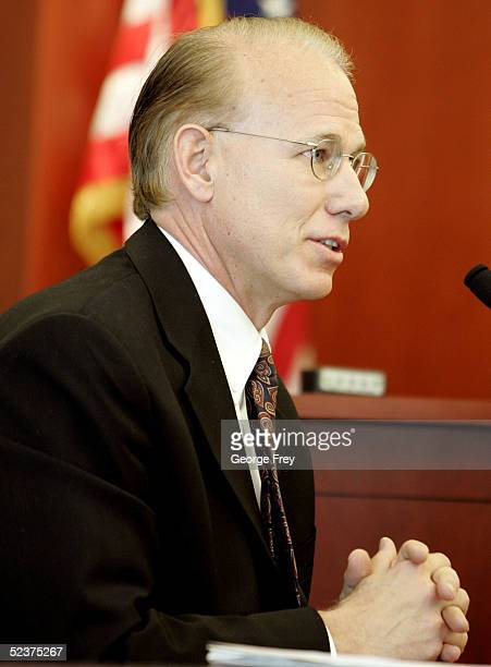 Psychologist, Noel Gardner, a witness for the prosecution of Brian David Mitchell gives testimony at Mitchell's competency hearing March 11, 2005 in...