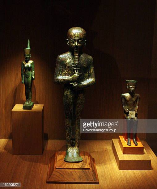 Ptah 3rd Interim Period Dynasties 2124 Bronze gilding glass inlay