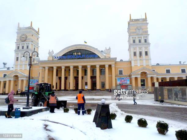 PThe building of the Kharkiv-Pasazhyrskyi Railway Station, Kharkiv, northeastern Ukraine.- PHOTOGRAPH BY Ukrinform / Barcroft Studios / Future...