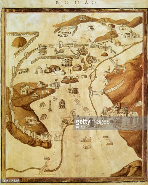 Ptolemy GrecoEgyptian astronomer geographer and astrologer Rome Map 1460 Vatican Library Italy