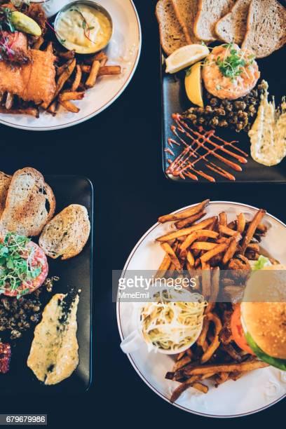 comida de pub - comida de pub - fotografias e filmes do acervo