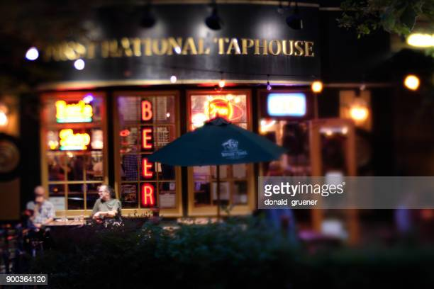 pub in downtown eugene oregon - eugene oregon stock pictures, royalty-free photos & images