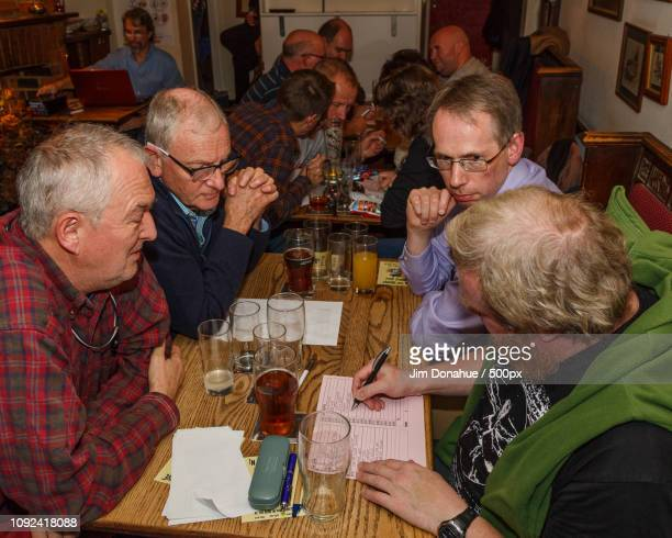 pub quiz, henley - jim donahue stock pictures, royalty-free photos & images