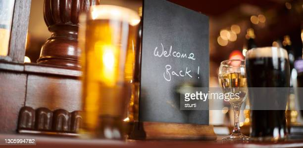 pub reopening sign - reopening stock pictures, royalty-free photos & images