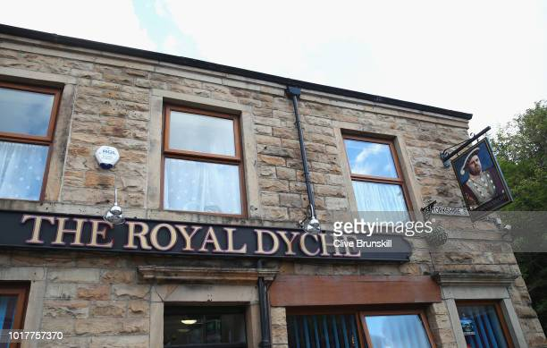 Pub sign near the stadium named after Burnley manager Sean Dyche before the UEFA Europa League third round qualifier second leg between Burnley and...
