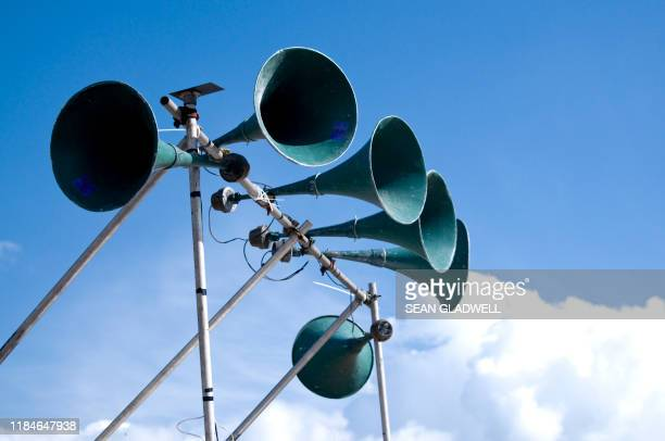 public address system - emergency siren stock pictures, royalty-free photos & images