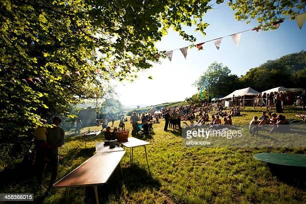 public at a live music festival - music festival stock pictures, royalty-free photos & images