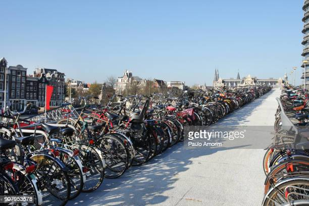Public bicycle parking in Amsterdam