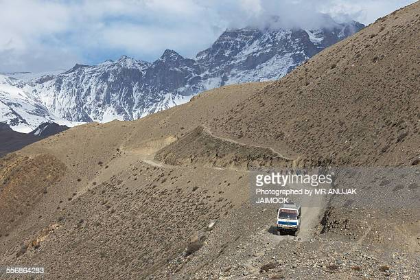 Public bus from Jomsom to Muktinath, Nepal