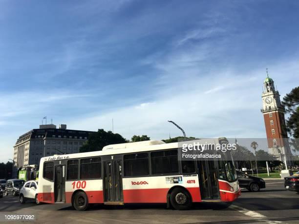 Public bus in the city