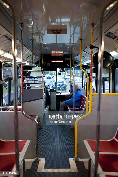 A public bus, interior