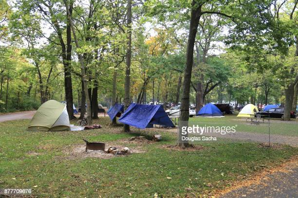Public campground, Marblehead, Ohio, USA