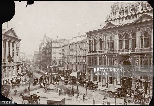 A public convenience in the centre of Piccadilly Circus circa 1895