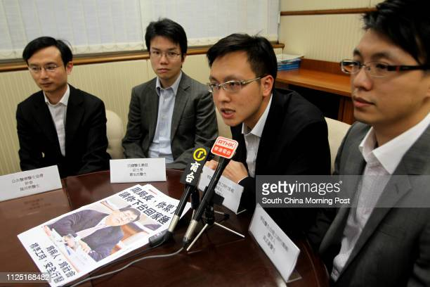 Public doctors Dr Chan Puiyin Dr Siu Yukleung Dr Ng Chiho and Dr Yuen Manho hold a press conference to express their anger about their heavy...