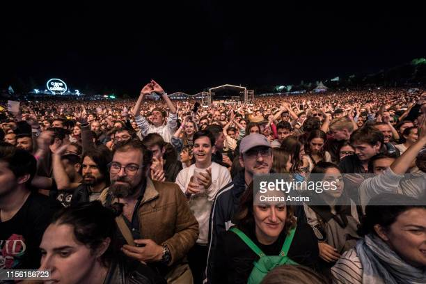 Public during the Iggy Pop concert in the O Son do Camino Festival on June 14, 2019 in Santiago de Compostela, Spain.