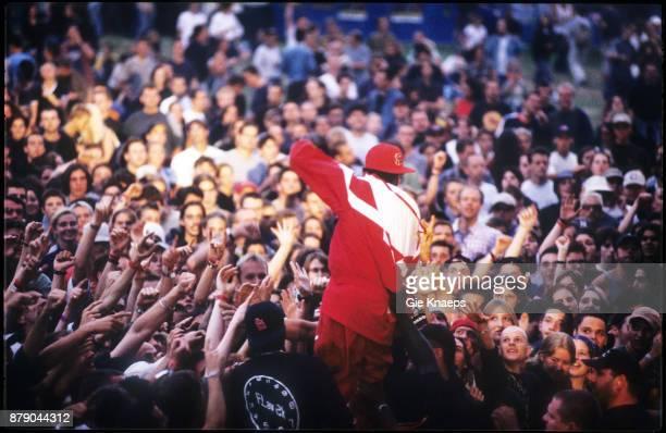 Public Enemy Flavor Flav performing on stage Pukkelpop Festival Hasselt Belgium 27th August 1999