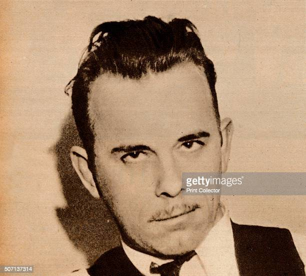 Public Enemy No 1' John Herbert Dillinger notorious outlaw who led a group of men known as The Dillinger Gang or Terror Gang Operating between...