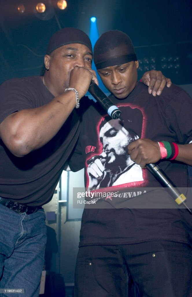 Public Enemy performing during Maxim Magazine's Music Issue Party at Crobar in New York City, New York, United States.