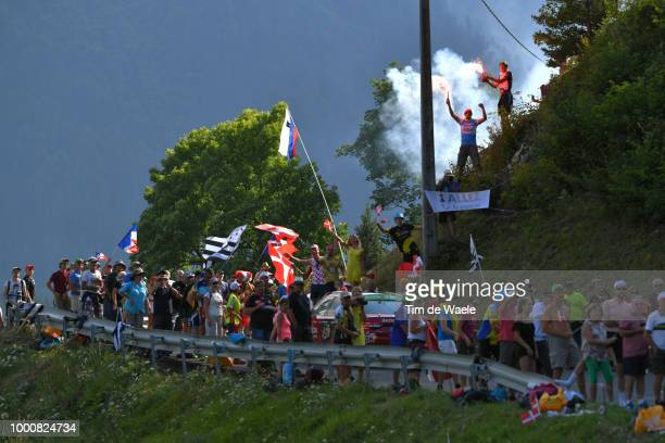 Public / Fans / Warren Barguil of France and Team Fortuneo Samsic / during the 105th Tour de France 2018 / Stage 10 a 1585km stage from Annecy to Le...