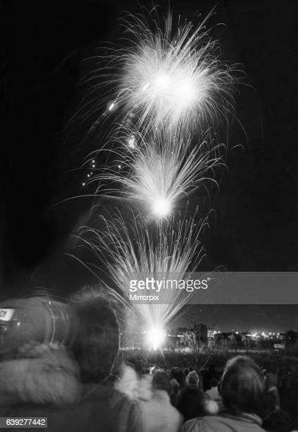 Public fireworks display Clairville Common Middlesbrough 5th November 1986