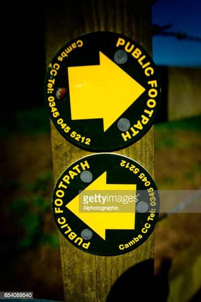 Les panneaux de sentier pédestre