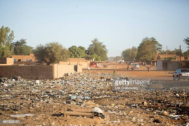 Public garbage dump in the streets of Niamey on December 07 in Niamey Niger Photo by Ute Grabowsky/Photothek via Getty Images