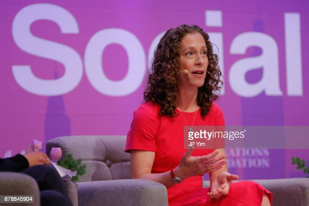 Public Health Policy Director Moms Clean Air Force Molly Rauch speaks onstage at the 5th Annual Moms SocialGood event at AXA Event Production Center...