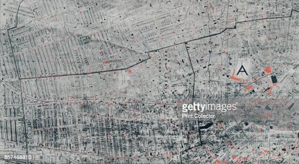 Public House Map of Liverpool', circa 1910, . A map of all the Public Houses in Liverpool marked in red, the black indicates the licensed house?s...