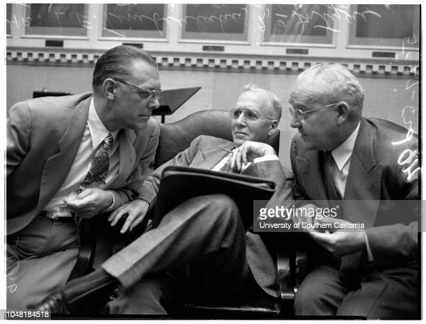 Public housing hearing 27 May 1952 Howard L HoltzendorffMayor Fletcher BowronNicola Giulii Byron JonesLE Timberlake McIntyre Faries John C Holland Ed...