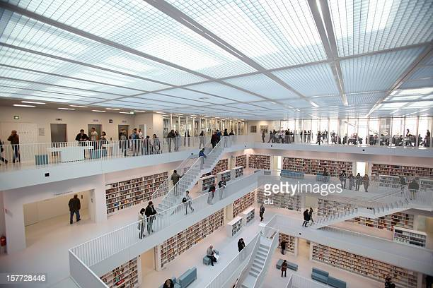 public library interior - stuttgart stock pictures, royalty-free photos & images