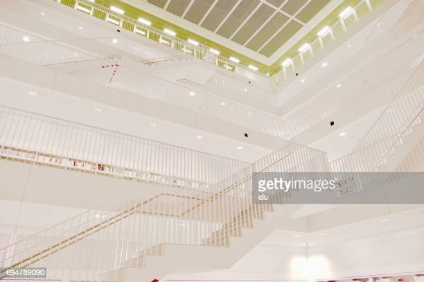 public library of stuttgart, germany - stadtbibliothek - sachverstand stock pictures, royalty-free photos & images