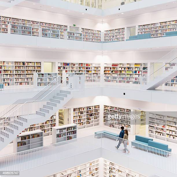 public library - stuttgart stock pictures, royalty-free photos & images