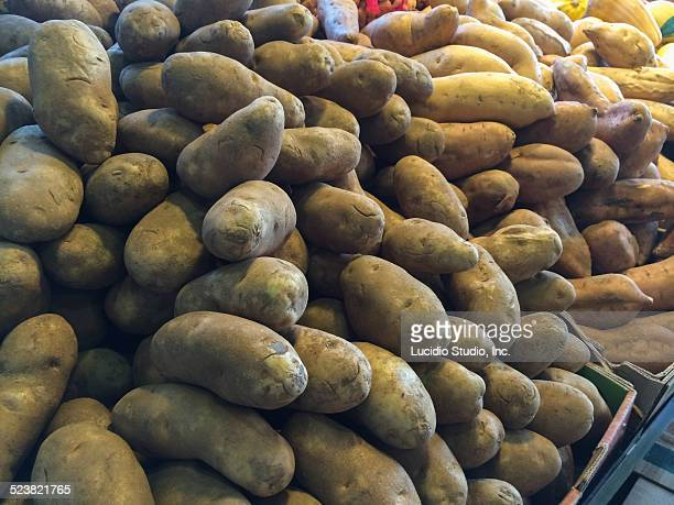 Public market selling potatoes