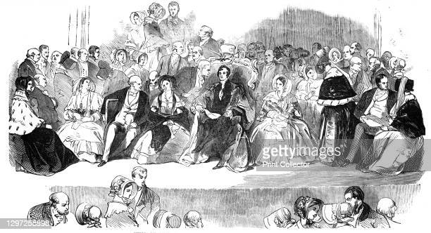 Public meeting at the Mansion House - the Lord Mayor in the Chair, 1844. William Magnay, the Lord Mayor of London, hosts '...a very numerous...