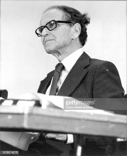 A public meeting held to discuss multiculturalism and citizenship at the Town HallProfessor Zubrzycki July 23 1982