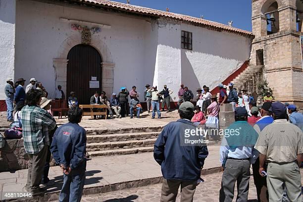 Public meeting in Quinoa, Ayacucho, Peru
