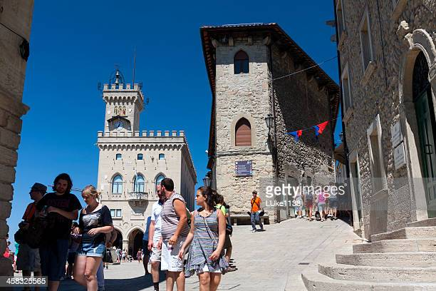 palazzo pubblico - republic of san marino stock photos and pictures