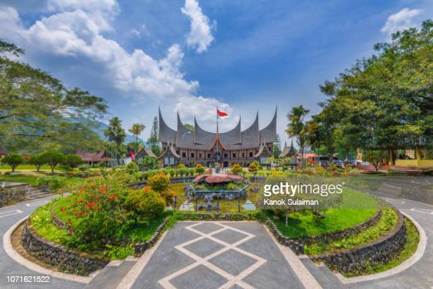 public park and building in west sumatra - west sumatra province stock pictures, royalty-free photos & images
