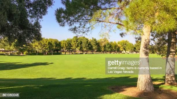 Public park field in Henderson Nevada