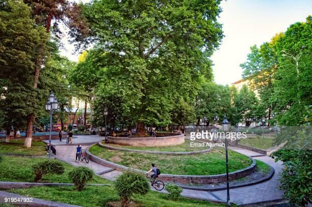 Public park in Tbilisi, Georgia