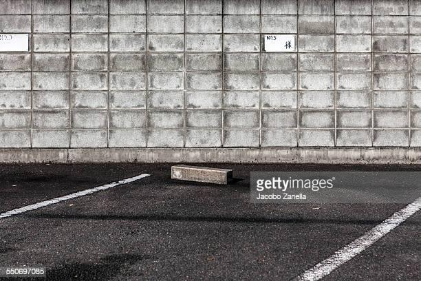 Public parking lot in Kyoto, Japan