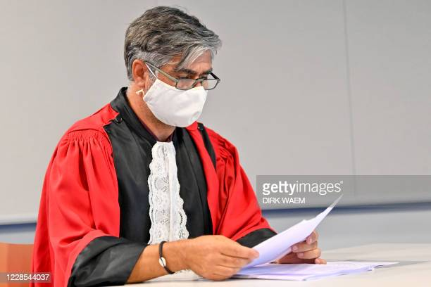 Public prosecutor Bjorn Backx pictured during a session of the assize trial of Yonas Mesfin Tela for the murder of his wife Abeba Teumezgi Mebrahtom...