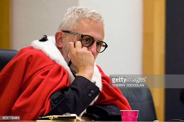 Public prosecutor Raphael Sanesi looks on after the verdict on the 10th day of the trial of Cecile Bourgeon and her excompanion Berkane Makhlouf...