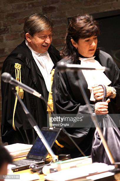 Public Prosecutors Giancarlo Costagliola and Manuela Comodi attend the appeal hearing of Amanda Knox over the guilty verdict in the murder of...
